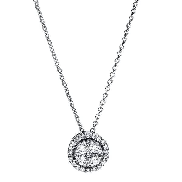 18 kt fehérarany nyaklánc 29 gyémánttal 4F352W8-3
