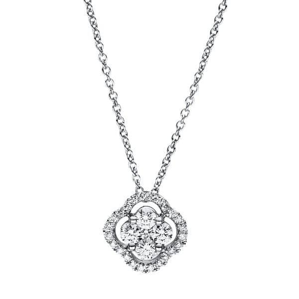 18 kt fehérarany nyaklánc 29 gyémánttal 4F356W8-1