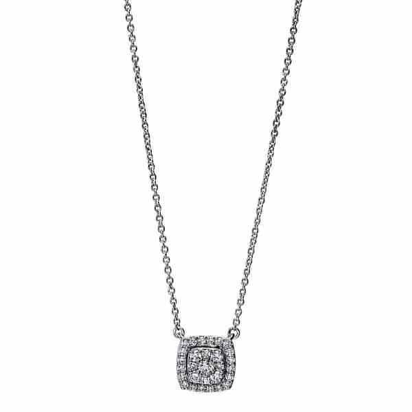 18 kt fehérarany nyaklánc 29 gyémánttal 4F787W8-1