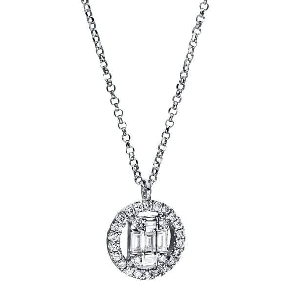 18 kt fehérarany nyaklánc 31 gyémánttal 4E324W8-6