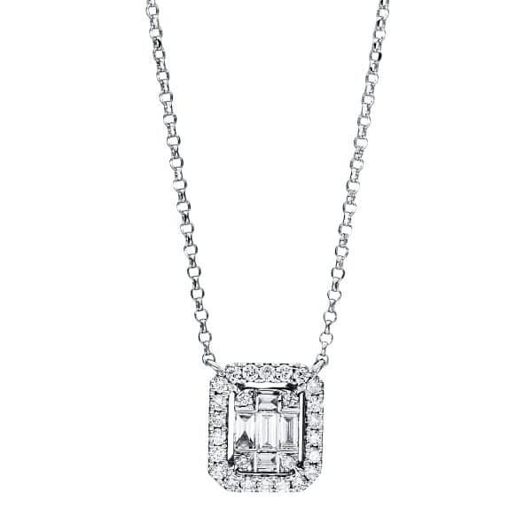 18 kt fehérarany nyaklánc 31 gyémánttal 4F335W8-3