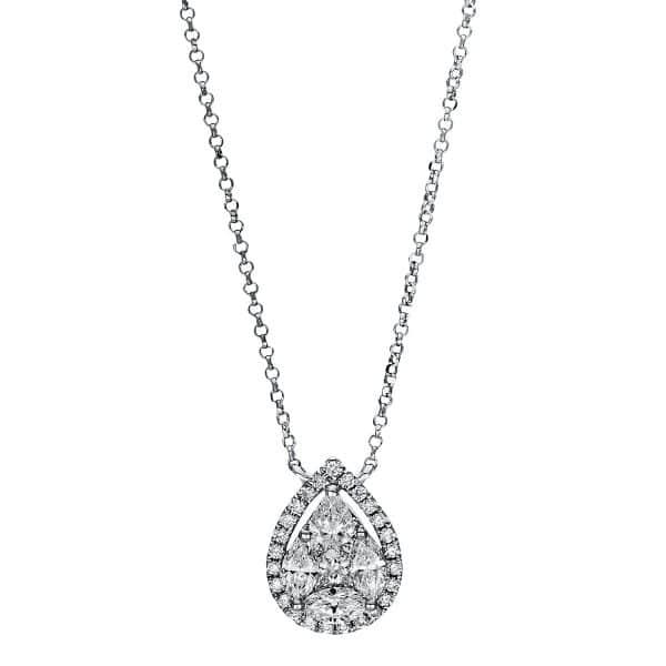 18 kt fehérarany nyaklánc 34 gyémánttal 4F456W8-1