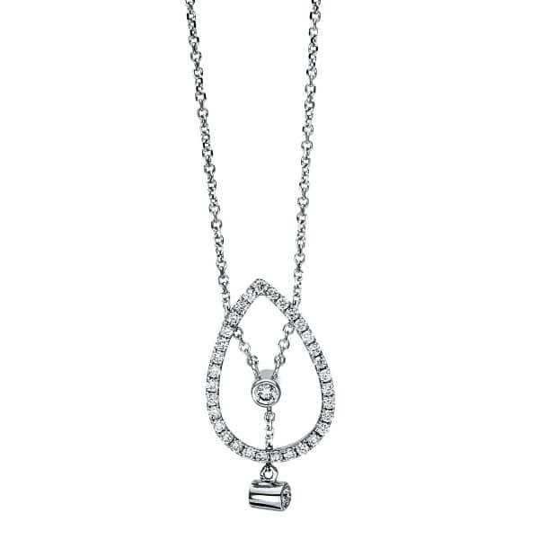 18 kt fehérarany nyaklánc 34 gyémánttal 4F495W8-1