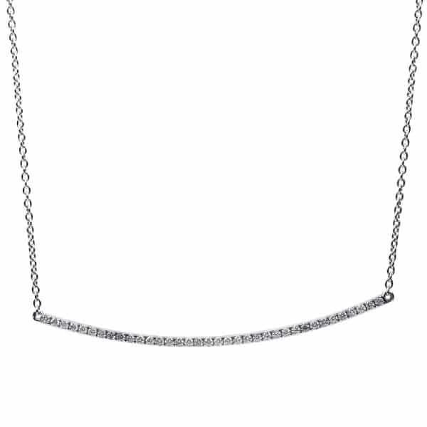 18 kt fehérarany nyaklánc 36 gyémánttal 4B075W8-2