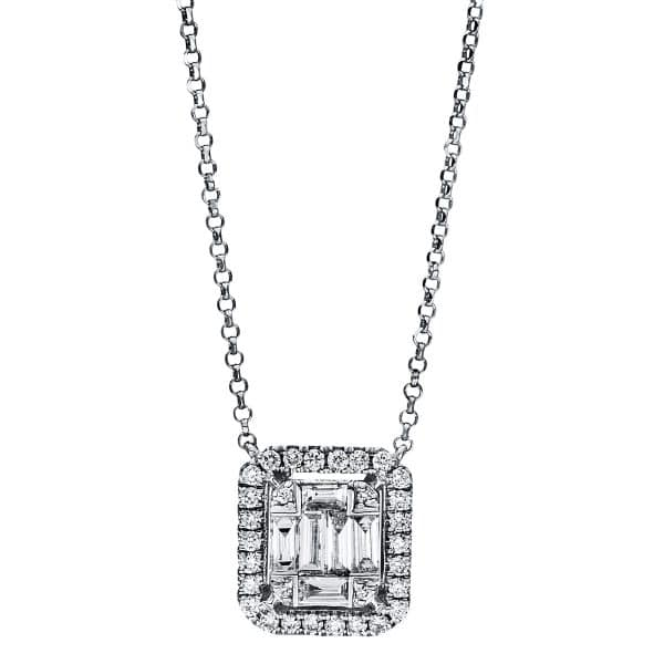 18 kt fehérarany nyaklánc 36 gyémánttal 4F471W8-1