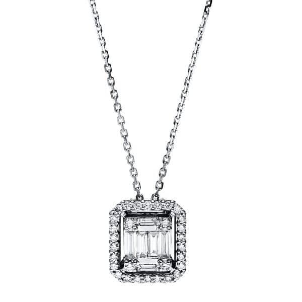 18 kt fehérarany nyaklánc 36 gyémánttal 4F588W8-1