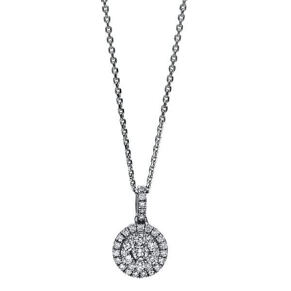 18 kt fehérarany nyaklánc 37 gyémánttal 4F121W8-1