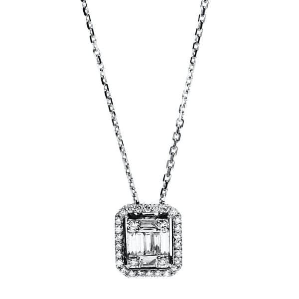 18 kt fehérarany nyaklánc 37 gyémánttal 4F587W8-1