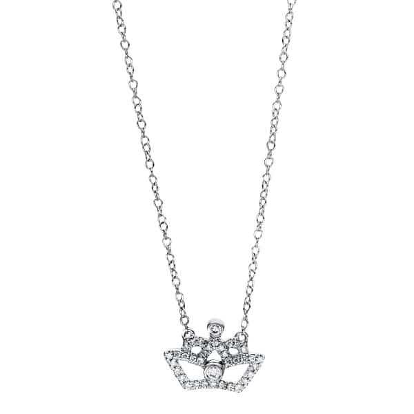 18 kt fehérarany nyaklánc 38 gyémánttal 4F454W8-1