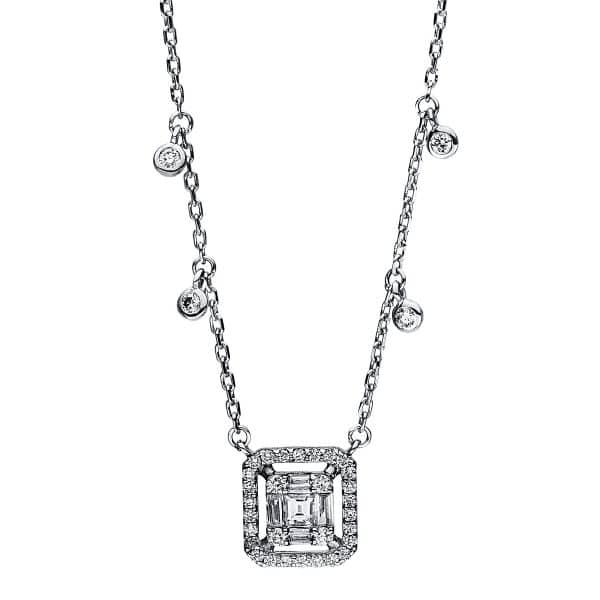 18 kt fehérarany nyaklánc 40 gyémánttal 4F099W8-1