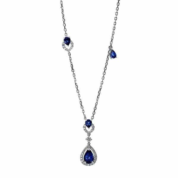 18 kt fehérarany nyaklánc 41 gyémánttal