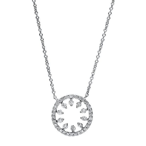 18 kt fehérarany nyaklánc 41 gyémánttal 4F351W8-5