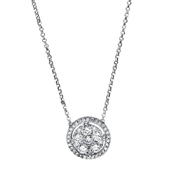 18 kt fehérarany nyaklánc 43 gyémánttal 4F544W8-1