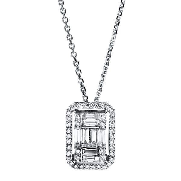 18 kt fehérarany nyaklánc 50 gyémánttal 4F584W8-1