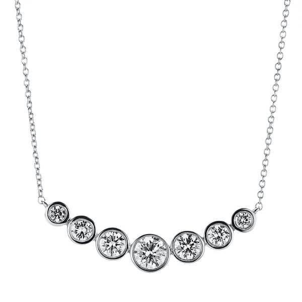 18 kt fehérarany nyaklánc 7 gyémánttal 4A787W8-2