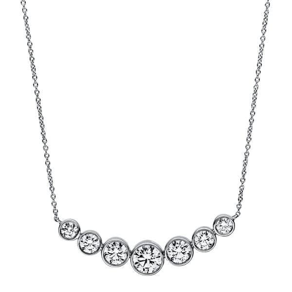 18 kt fehérarany nyaklánc 7 gyémánttal 4A789W8-2