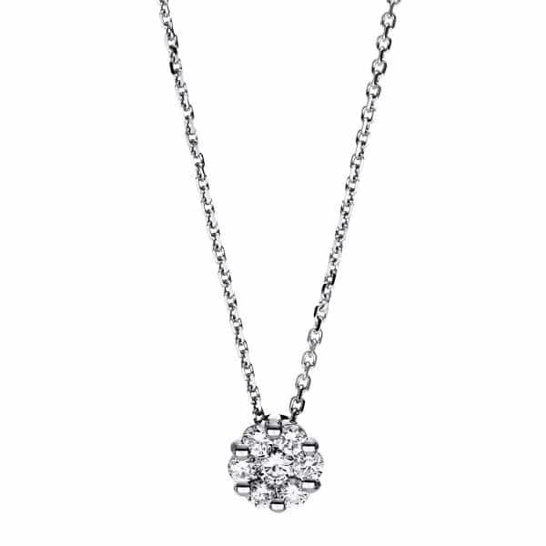 18 kt fehérarany nyaklánc 7 gyémánttal 4F254W8-1