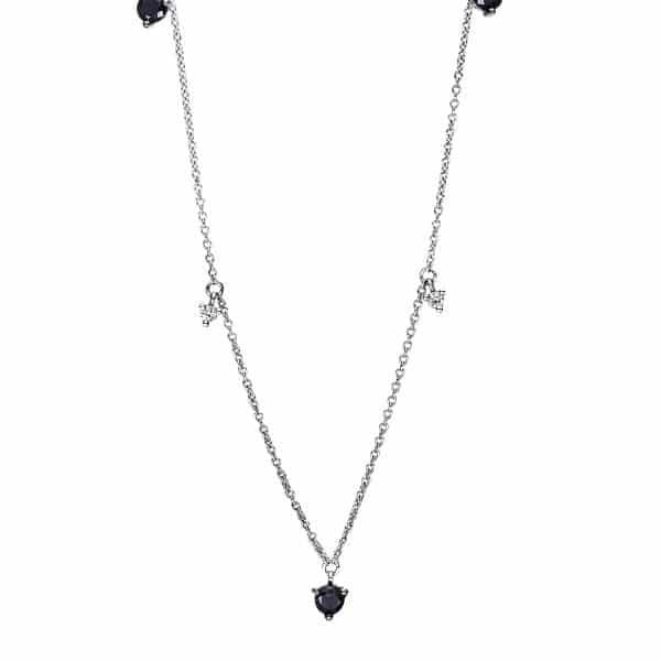 18 kt fehérarany nyaklánc 7 gyémánttal 4F493W8-1