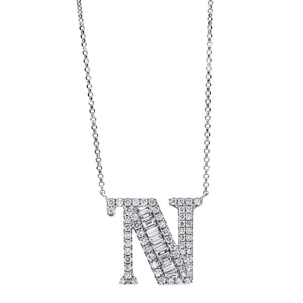 18 kt fehérarany nyaklánc 72 gyémánttal 4F481W8-1