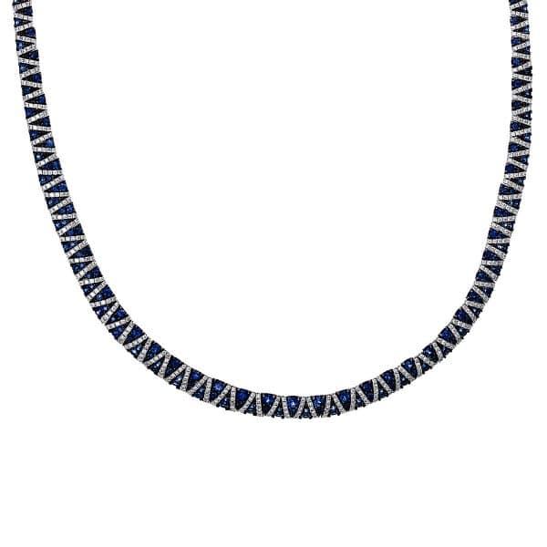 18 kt fehérarany nyaklánc 772 gyémánttal