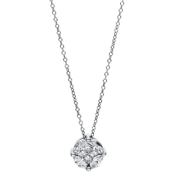 18 kt fehérarany nyaklánc 8 gyémánttal 4F472W8-1