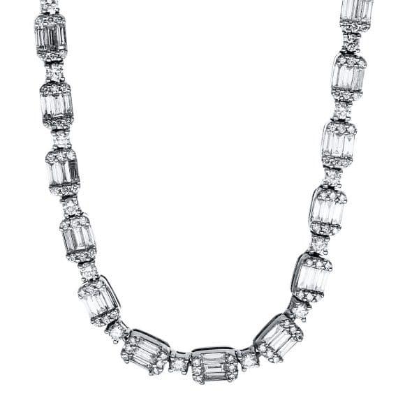 18 kt fehérarany nyaklánc 960 gyémánttal 4F590W8-1