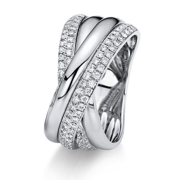 18 kt fehérarany pavé 87 gyémánttal 1B968W854-1