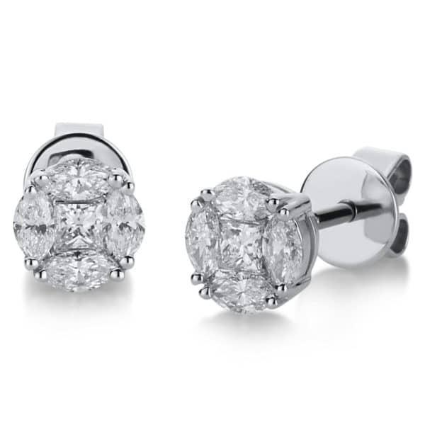 18 kt fehérarany steckeres 10 gyémánttal 2A464W8-13