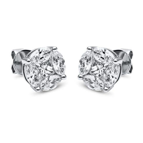18 kt fehérarany steckeres 10 gyémánttal 2E745W8-1