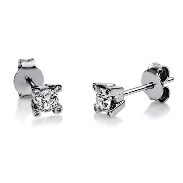 18 kt fehérarany steckeres 10 gyémánttal 2H127W8-2