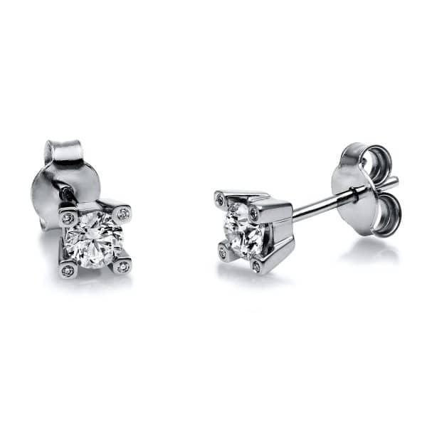 18 kt fehérarany steckeres 10 gyémánttal 2H128W8-1
