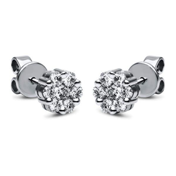 18 kt fehérarany steckeres 14 gyémánttal 2F454W8-3
