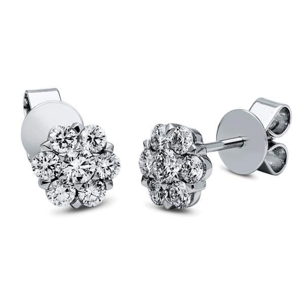 18 kt fehérarany steckeres 14 gyémánttal 2I692W8-1