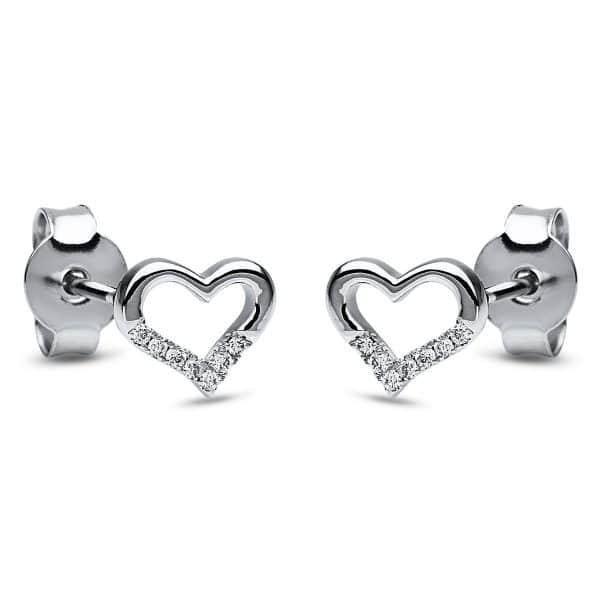 18 kt fehérarany steckeres 14 gyémánttal 2I875W8-1