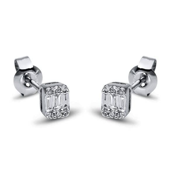 18 kt fehérarany steckeres 18 gyémánttal 2G794W8-1