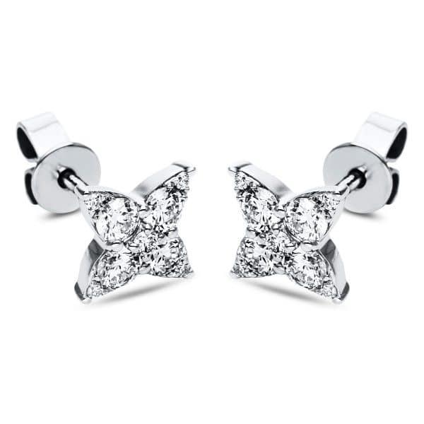 18 kt fehérarany steckeres 18 gyémánttal 2J364W8-1
