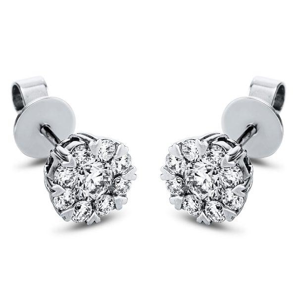 18 kt fehérarany steckeres 18 gyémánttal 2J442W8-1