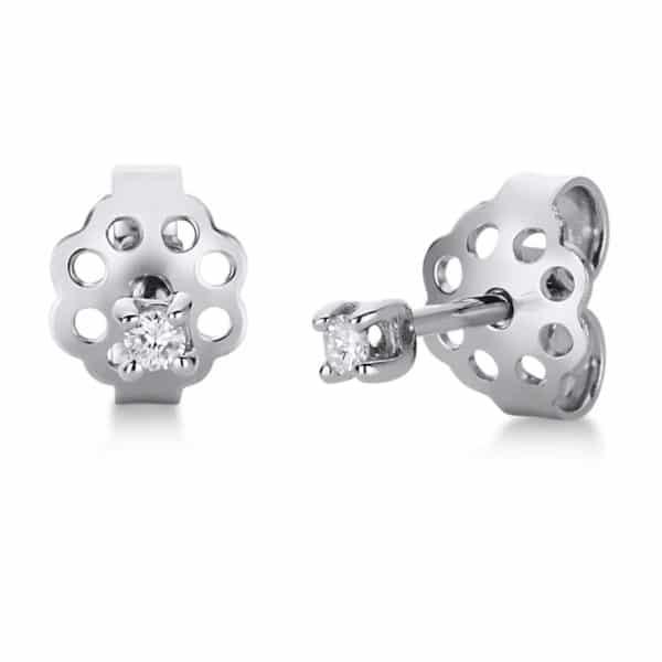 18 kt fehérarany steckeres 2 gyémánttal 2A813W8-1
