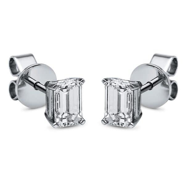 18 kt fehérarany steckeres 2 gyémánttal 2C949W8-2