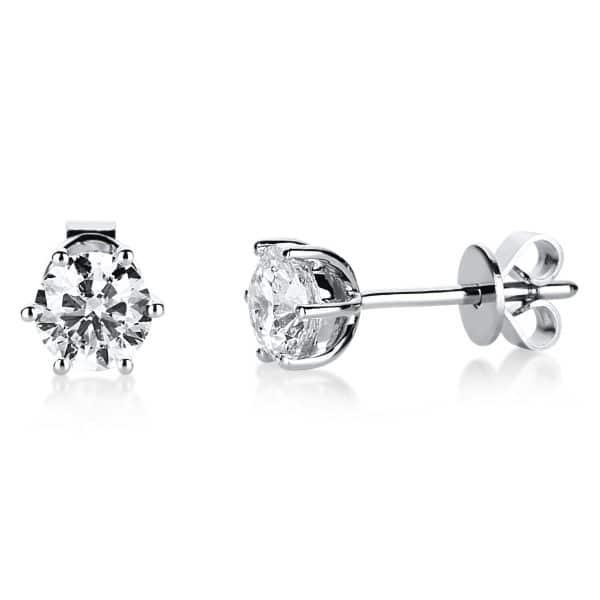 18 kt fehérarany steckeres 2 gyémánttal 2E211W8-7