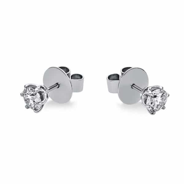 18 kt fehérarany steckeres 2 gyémánttal 2F586W8-4