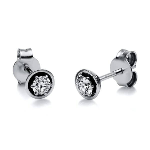 18 kt fehérarany steckeres 2 gyémánttal 2H131W8-2