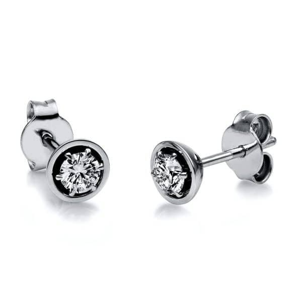 18 kt fehérarany steckeres 2 gyémánttal 2H132W8-2