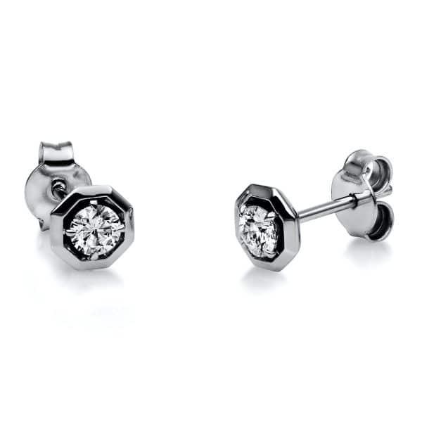 18 kt fehérarany steckeres 2 gyémánttal 2H137W8-4