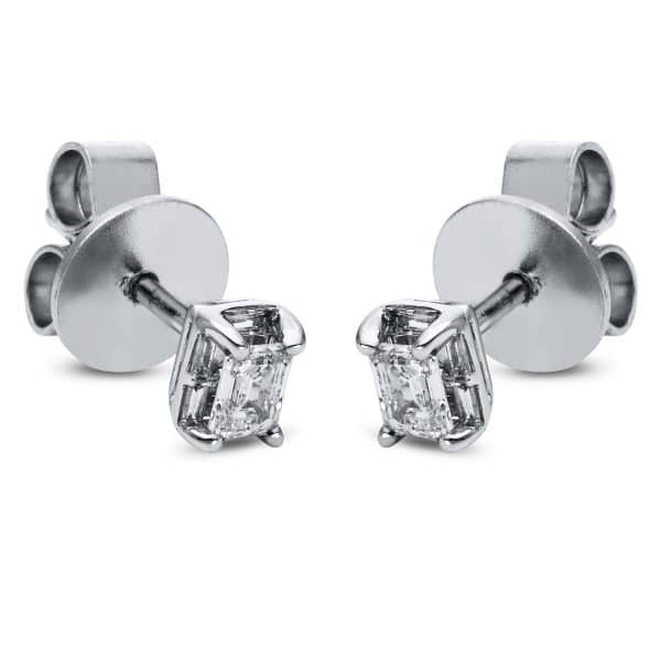 18 kt fehérarany steckeres 2 gyémánttal 2H699W8-2