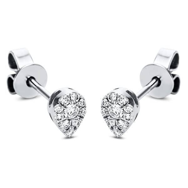 18 kt fehérarany steckeres 20 gyémánttal 2J323W8-1