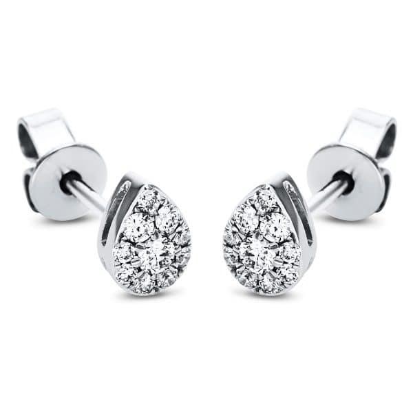 18 kt fehérarany steckeres 20 gyémánttal 2J374W8-1