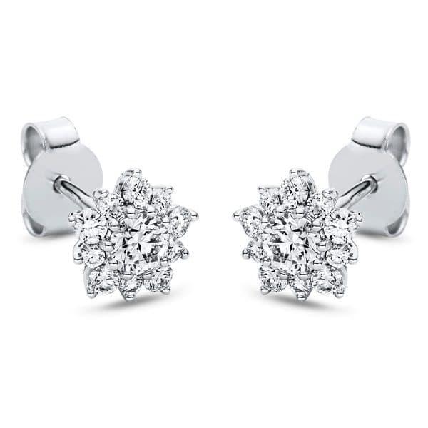 18 kt fehérarany steckeres 22 gyémánttal 2I976W8-1