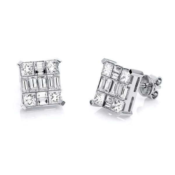 18 kt fehérarany steckeres 26 gyémánttal 2E250W8-1