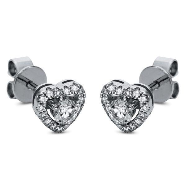 18 kt fehérarany steckeres 32 gyémánttal 2H860W8-1